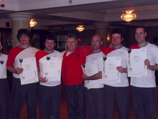 Some of Sifu Canavan's students receiving the TG certificates from Dai-Sifu Tausend